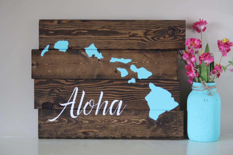 Reclaimed Wood Wall Art Aloha Hawaiian Island Reclaimed Regarding Recent Hawaiian Wall Art (Gallery 9 of 20)