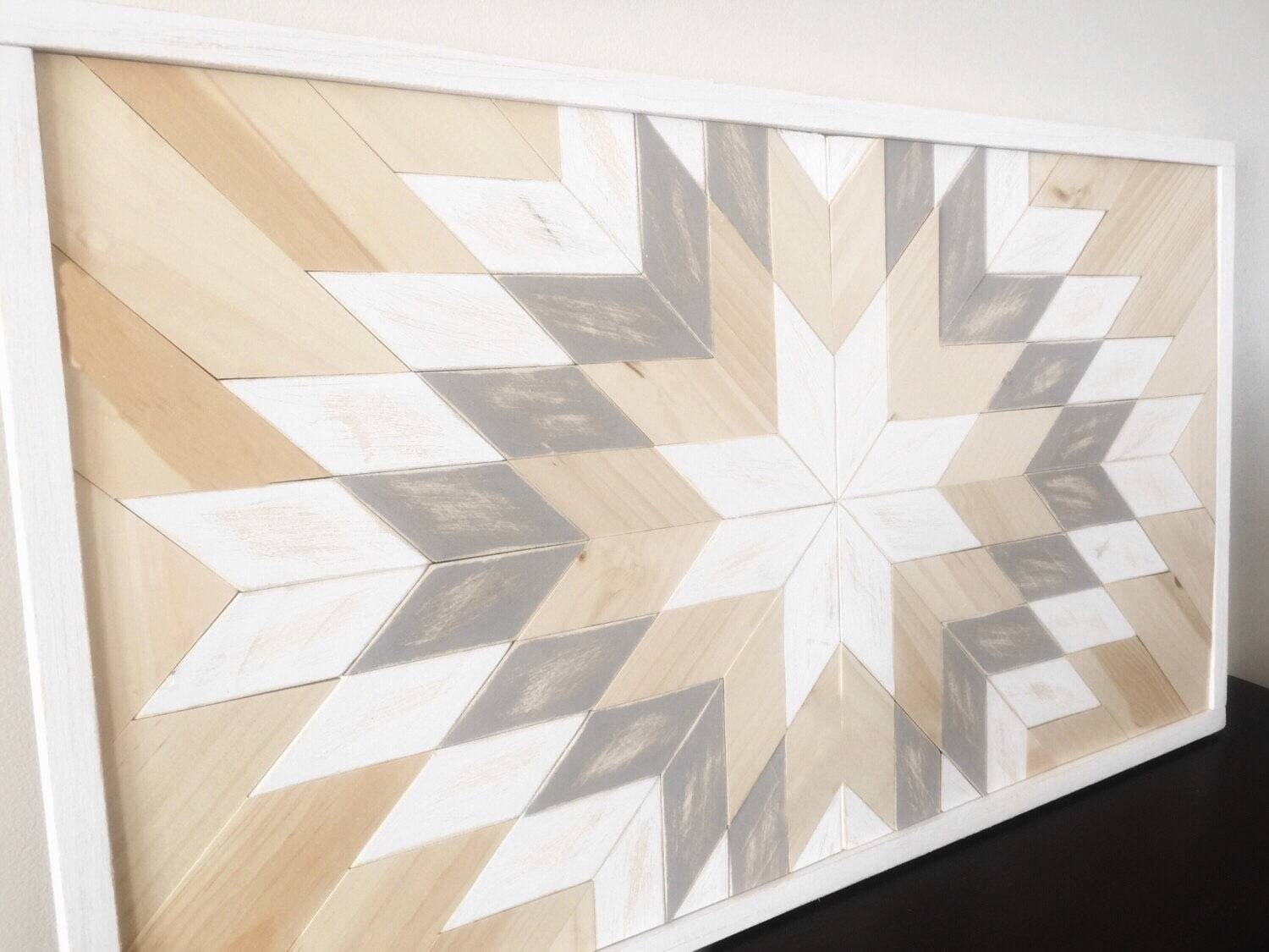 Reclaimed Wood Wall Art – Sunburst In White In Most Up To Date White Wooden Wall Art (View 20 of 20)
