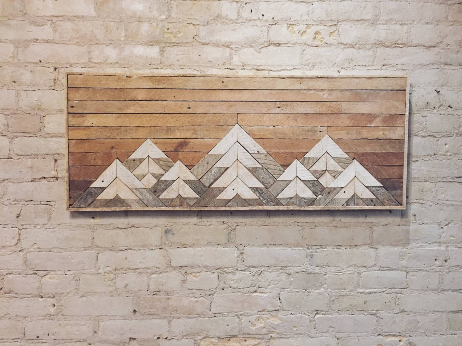 Reclaimed Wood Wall Art, Wall Decor, Twin Headboard, Lath Pertaining To Recent Wood Wall Art (View 13 of 25)