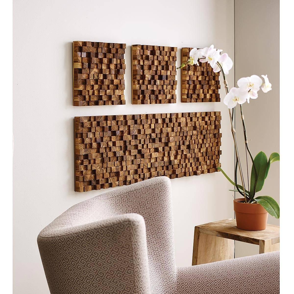Rectangle Takara Wall Art | Teak Wood, 3d Art | Uncommongoods Inside Most Popular Wood 3d Wall Art (View 3 of 20)