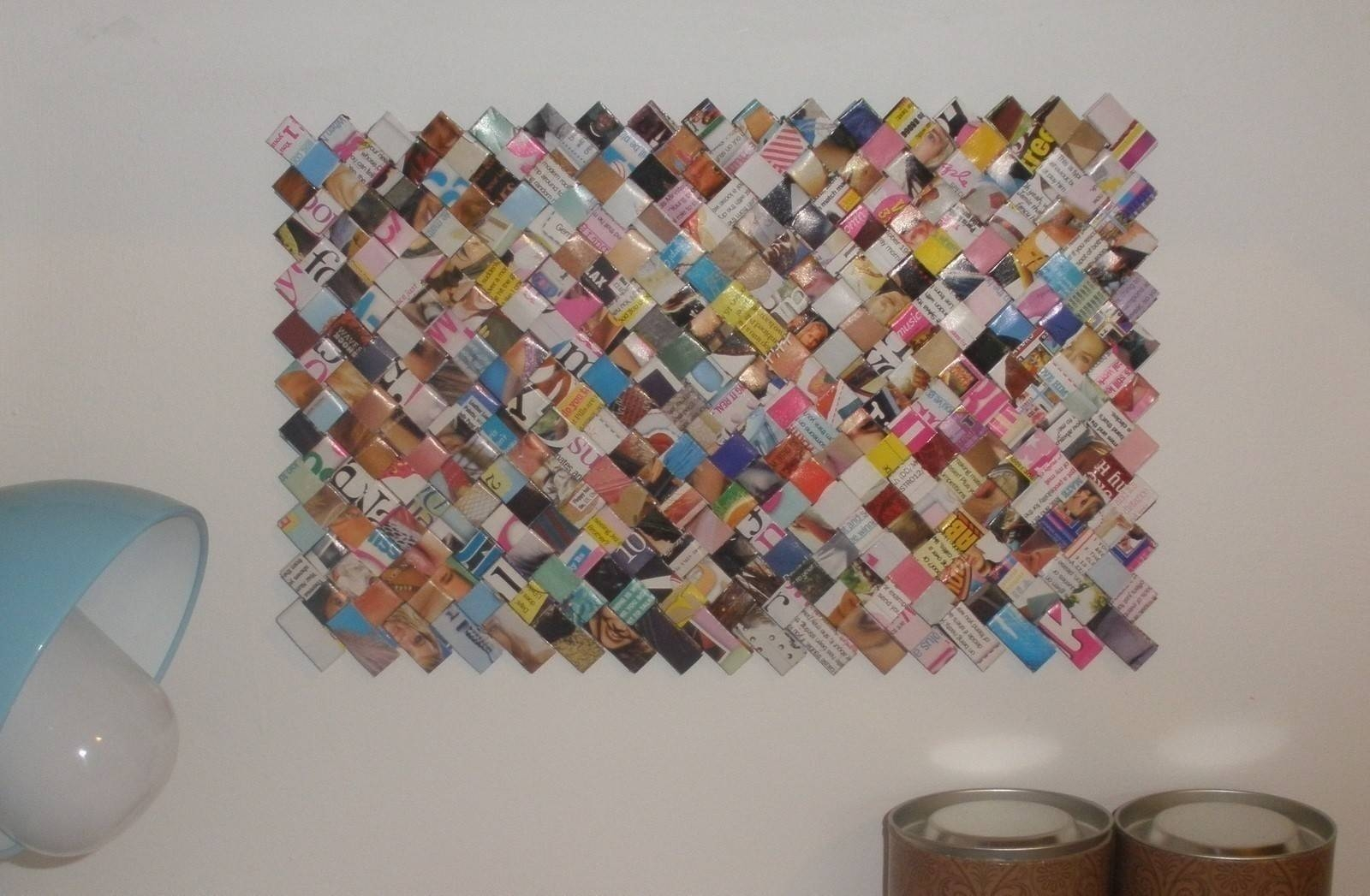 Recycled Magazine Wall Art · A Hanging · Versionivana H (View 3 of 30)