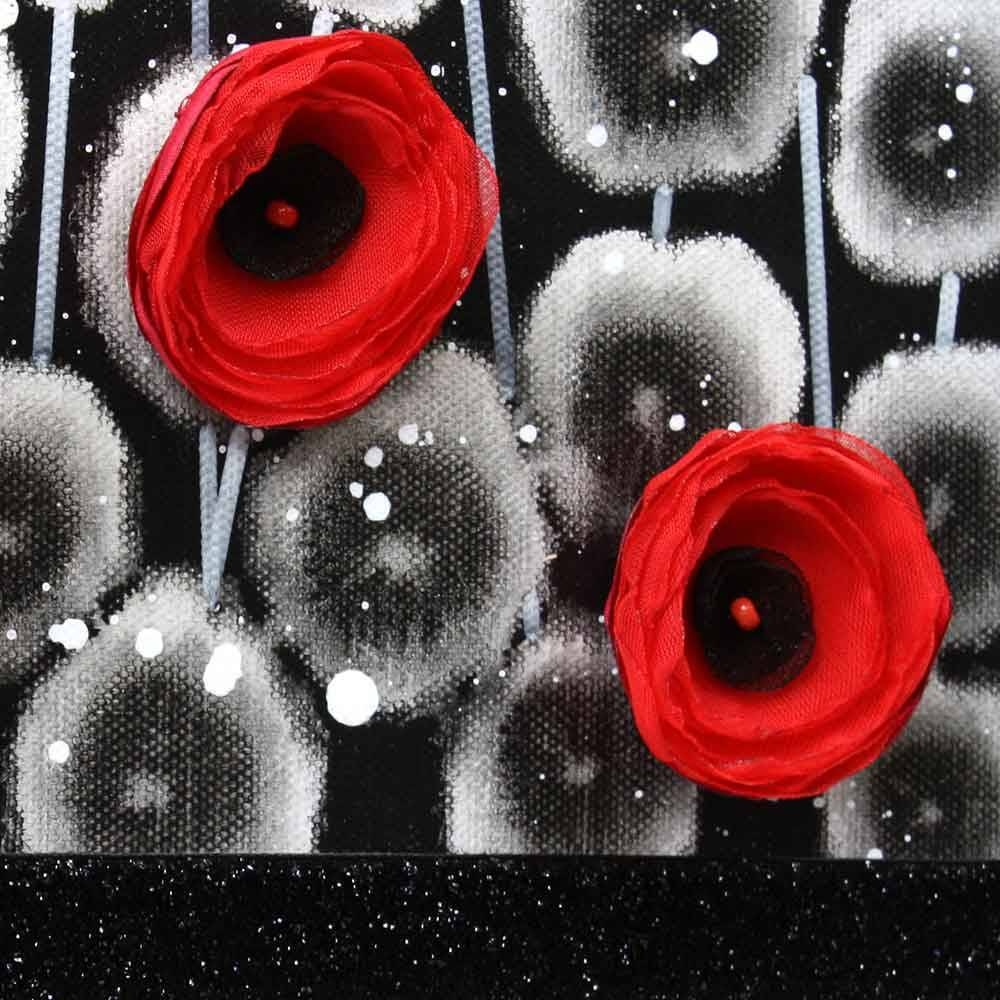 Red And Black Wall Art Poppy Flower Painting Canvas – Small | Amborela Intended For Most Recently Released Red Poppy Canvas Wall Art (View 12 of 20)