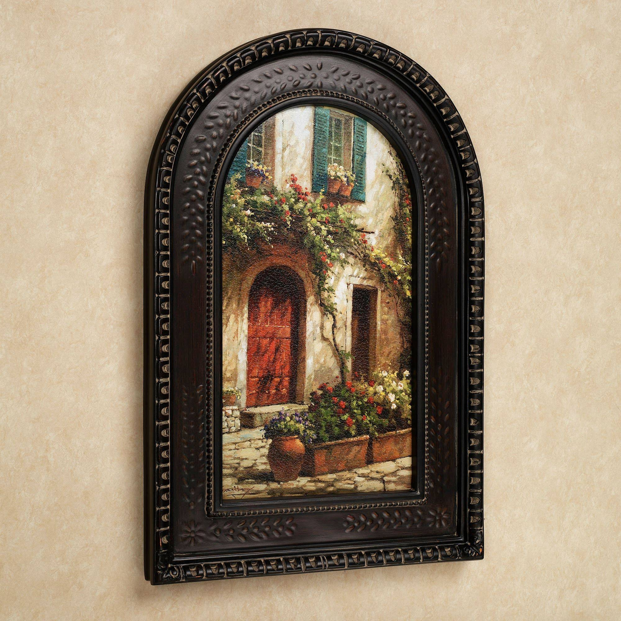 Red Door Italian Scene Arched Framed Wall Art Intended For Newest Brown Framed Wall Art (View 11 of 20)