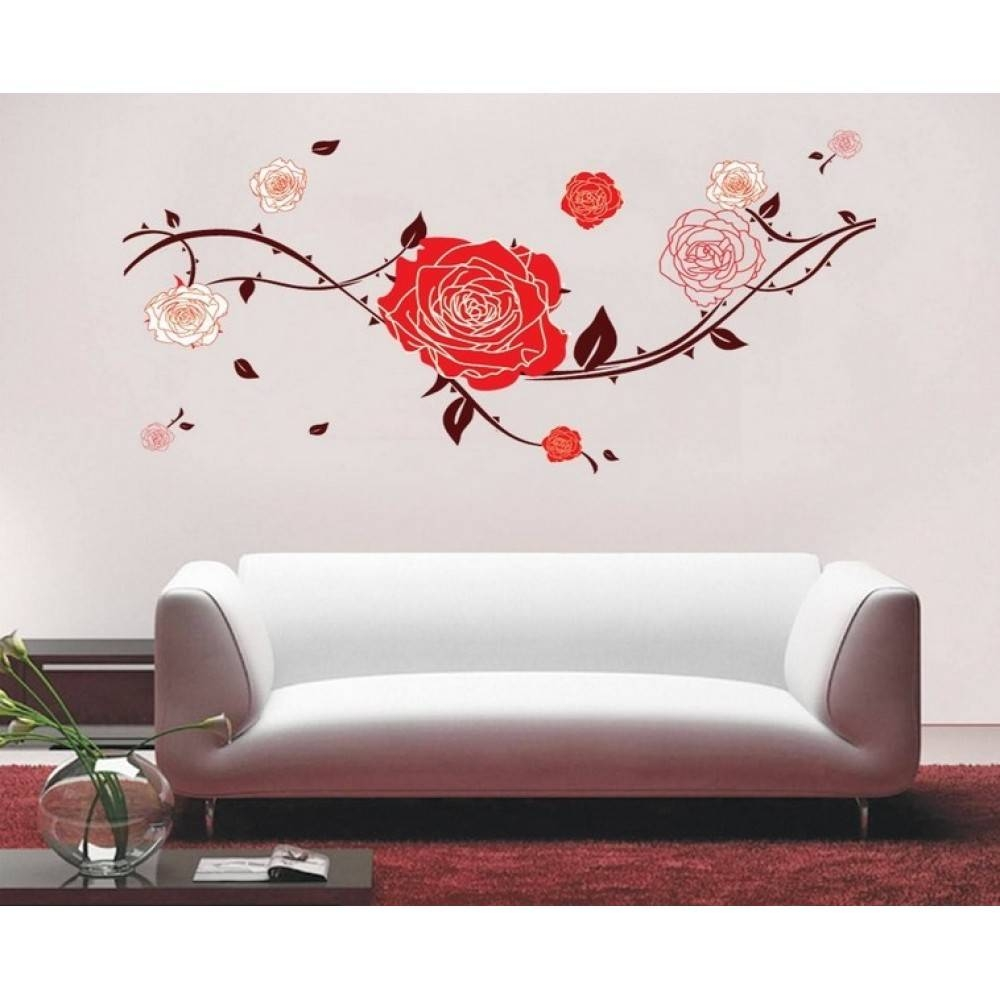 Red Roses Wall Sticker | Wallstickerscool.au Wall Decals Inside Latest Red Rose Wall Art (Gallery 18 of 20)