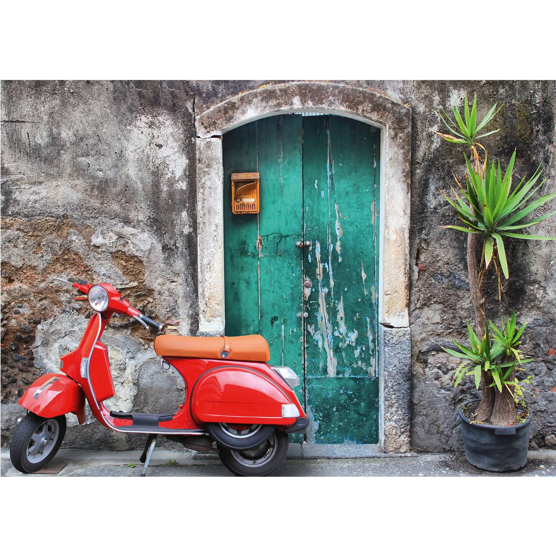 Red Scooter – Photo Wallpaper – Wall Art Intended For 2018 Vespa 3d Wall Art (Gallery 8 of 20)