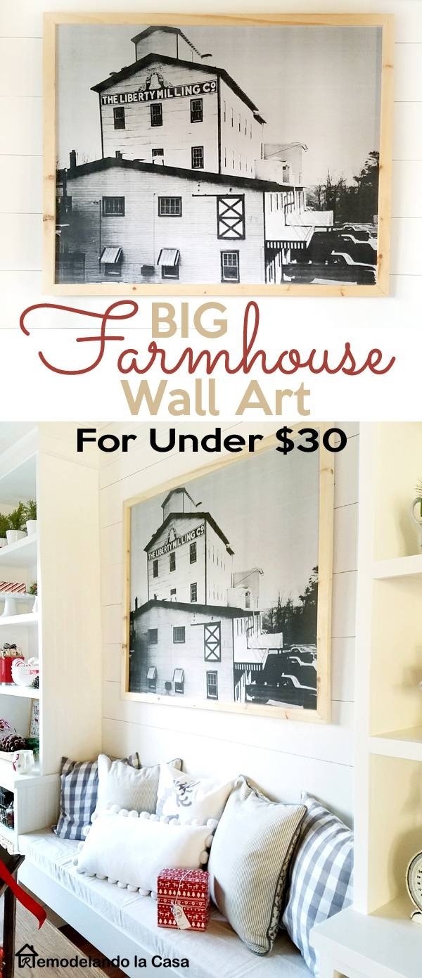 Remodelando La Casa: Diy – Big Farmhouse Wall Art For Under $30 With Regard To 2017 Farmhouse Wall Art (View 13 of 25)