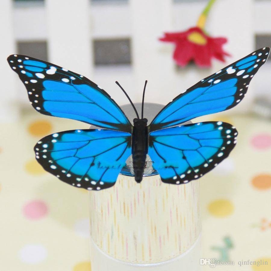 Removable Diy Pvc 3D Colorful Butterfly Wall Sticker Murals Wall Intended For Newest 3D Removable Butterfly Wall Art Stickers (View 15 of 20)