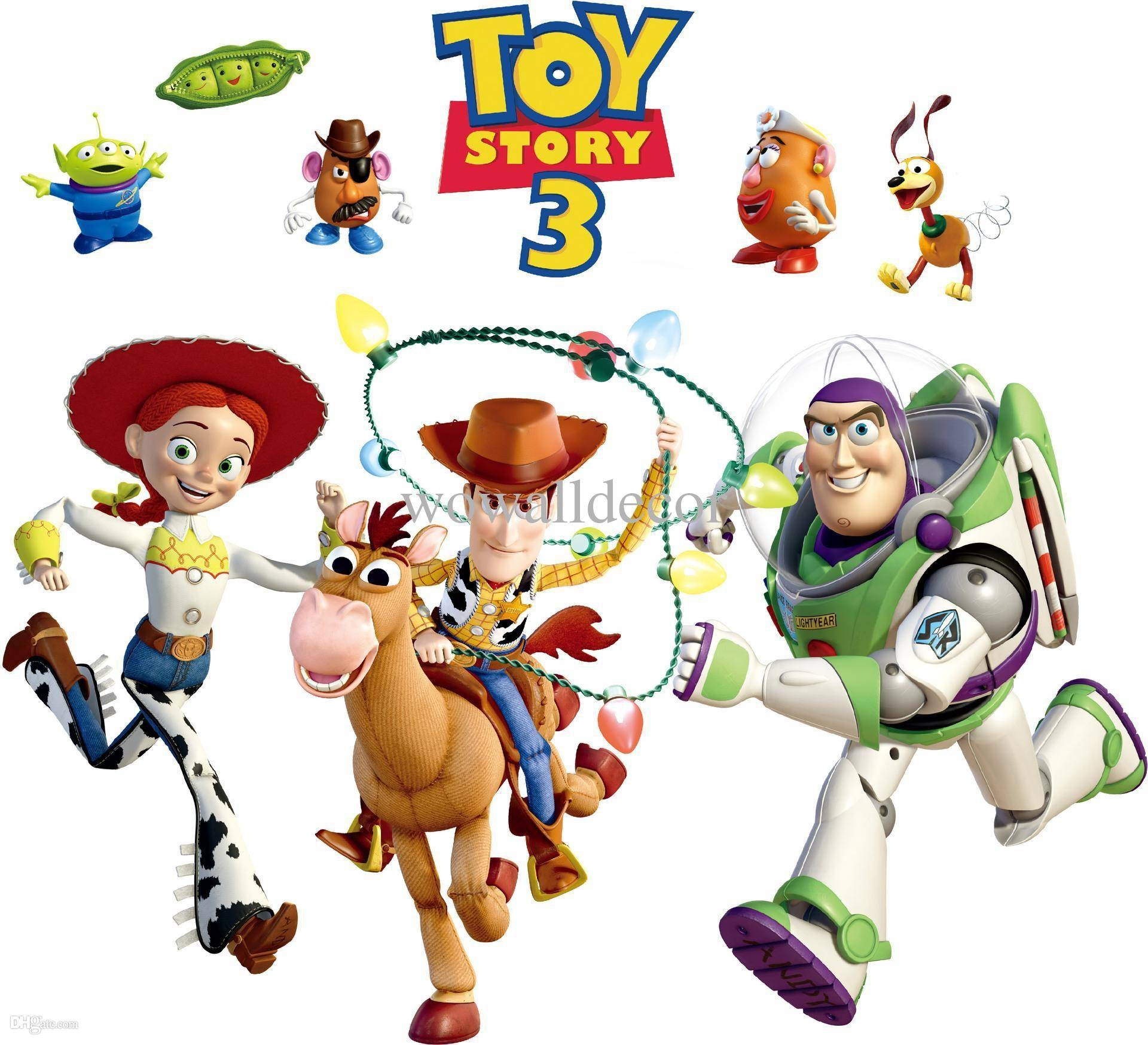 Removable Pvc Toy Story 3 Woody Bullseye Wall Sticker For Kids Inside Recent Toy Story Wall Art (View 10 of 30)
