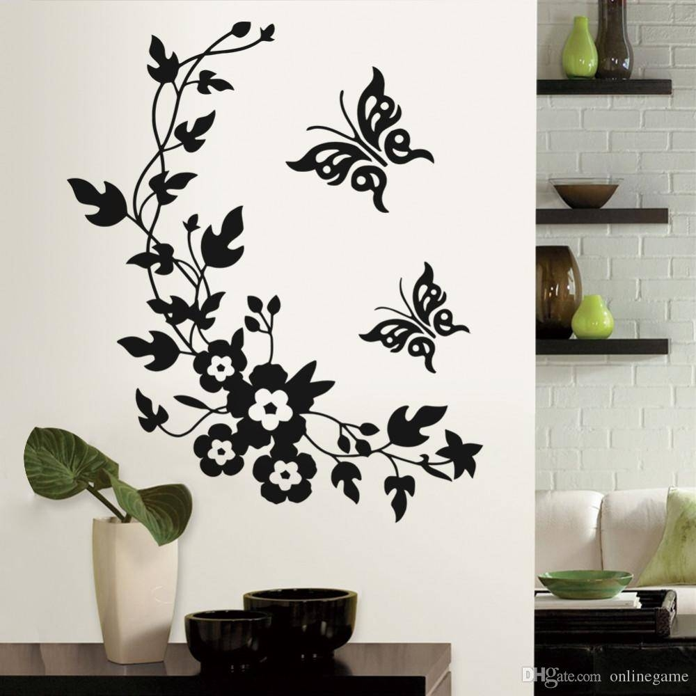 Removable Vinyl 3d Wall Sticker Mural Decal Art Flowers And Vine Regarding 2018 3d Removable Butterfly Wall Art Stickers (Gallery 1 of 20)