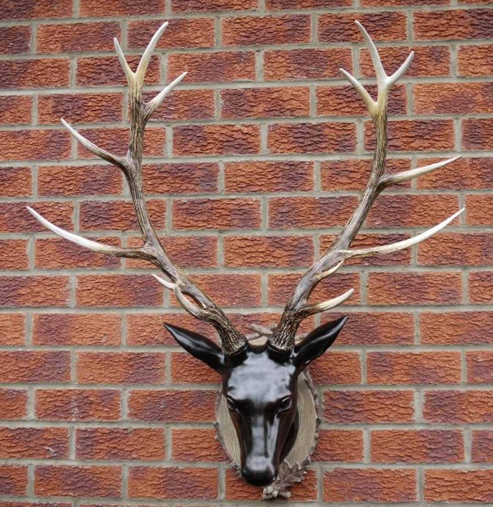 Resin Wall Art – Large Stag Head Trophy With Regard To 2018 Stags Head Wall Art (View 22 of 25)
