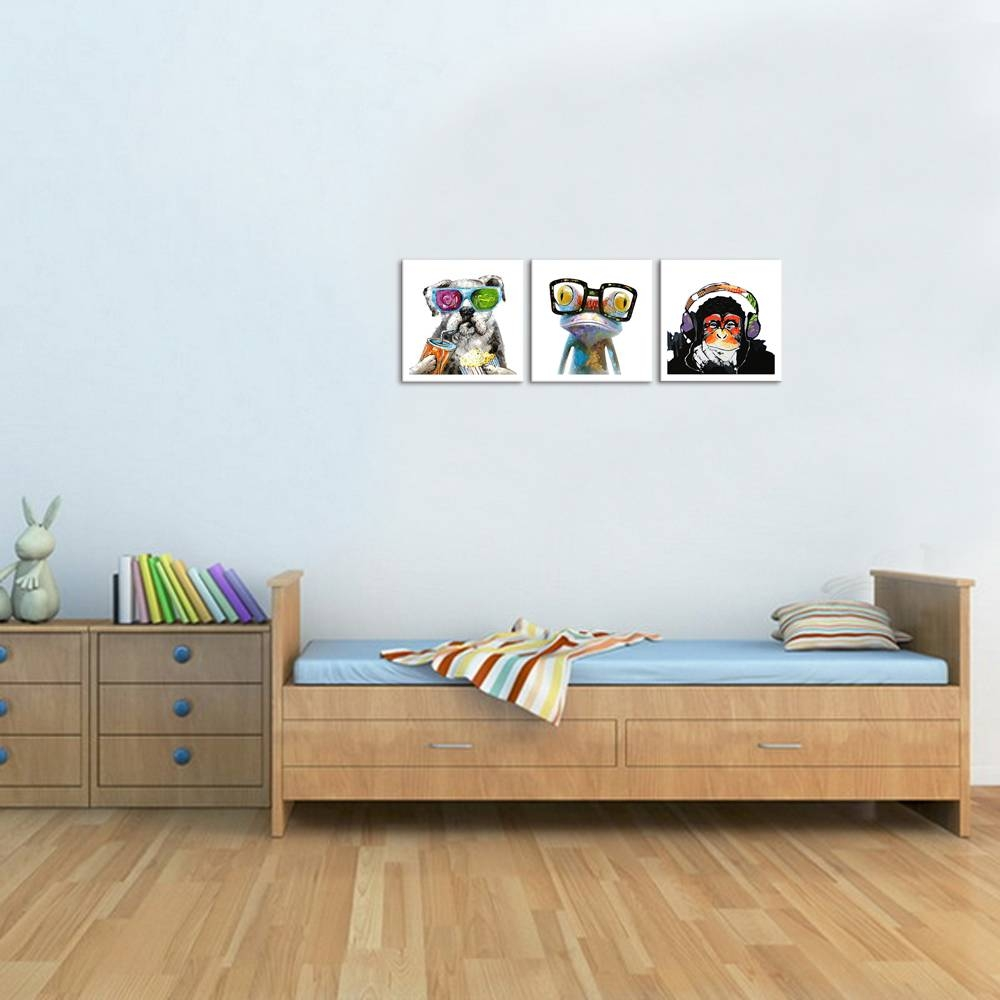Restdeals:unframed Animals Canvas Wall Art Modern Gorilla Intended For Recent Animal Canvas Wall Art (View 16 of 20)