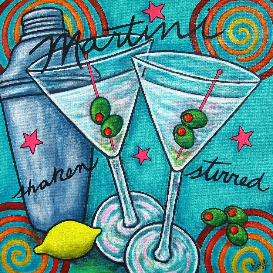 Retro Martini Paintinglisa Lorenz Within Most Up To Date Martini Glass Wall Art (View 25 of 30)