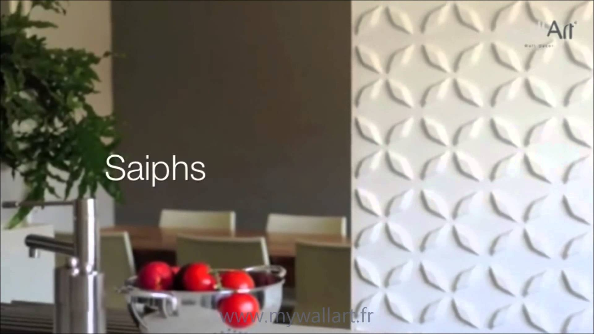 Revetement Mural 3D Saiphs – Youtube With Newest Vidella 3D Wall Art (Gallery 10 of 20)