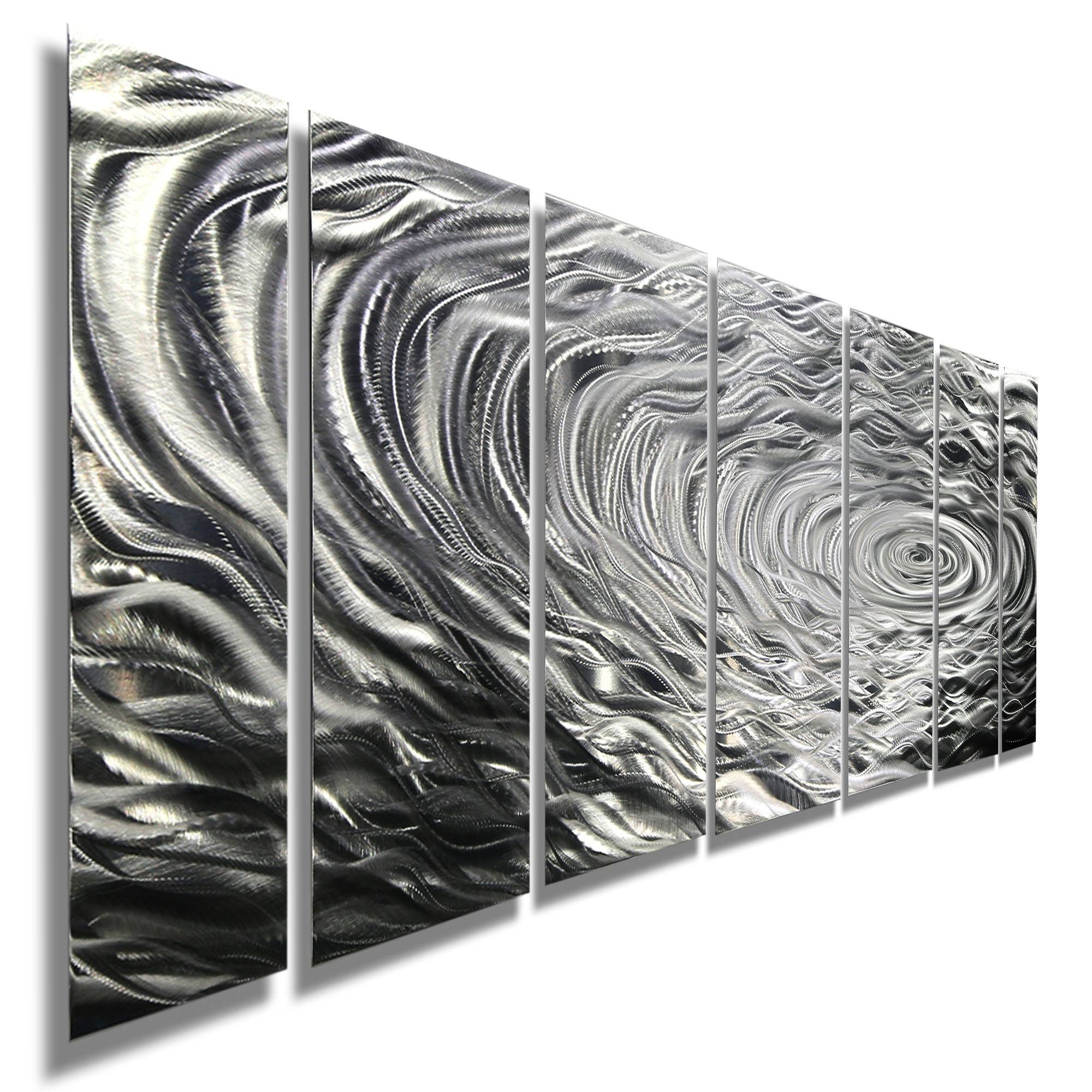 Ripple Effect Xl – Silver Abstract Corporate Metal Wall Art Decor Intended For Most Current Black Silver Wall Art (View 12 of 20)