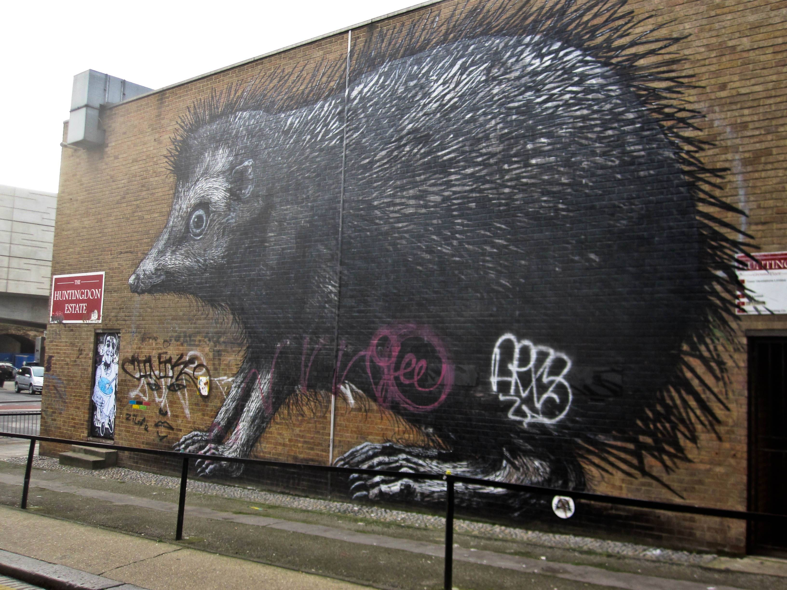 Roa: He's An Animal (On The Street Art Scene) – Trading Voyageur Intended For Most Current London Scene Wall Art (Gallery 19 of 20)