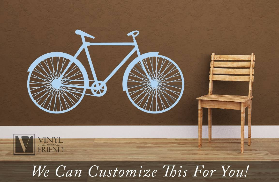 Road Bicycle Retro Vintage Wall Vinyl Decal Graphic A Sports Wall Pertaining To 2017 Bicycle Wall Art Decor (View 13 of 20)