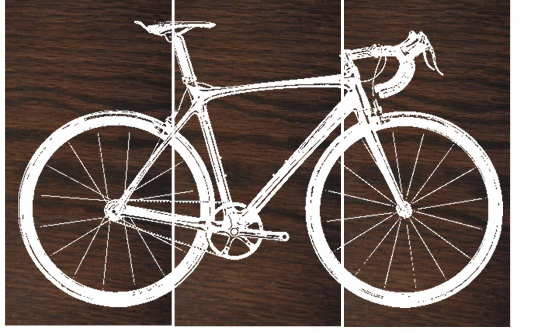 Road Bike / Street Bike Wall Art / Bicycle Screen Print / With Best And Newest Bike Wall Art (Gallery 7 of 20)