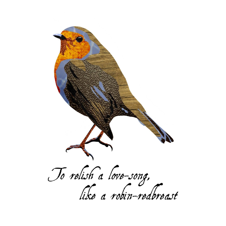 Robin Bird Nursery Art Wall Art 8x8 Fine Art Print For Latest Shakespeare Wall Art (Gallery 19 of 20)