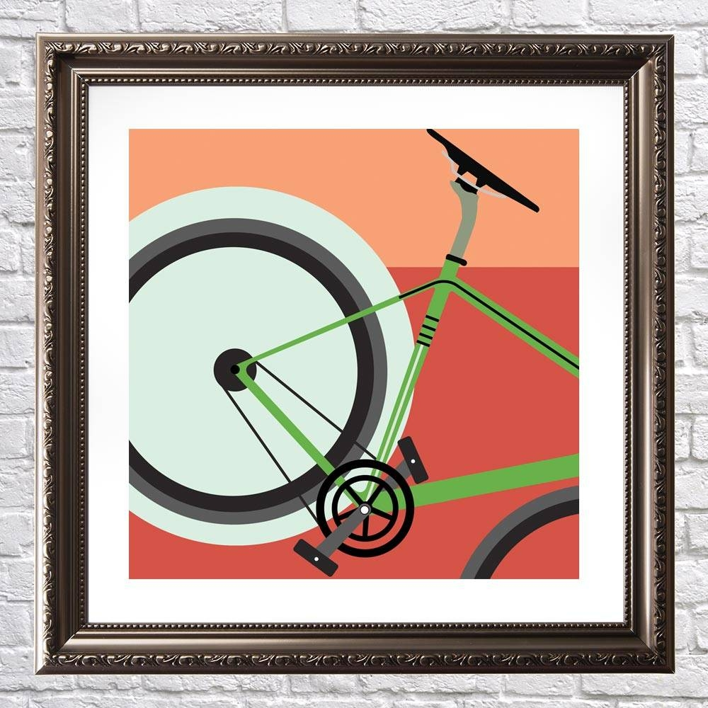 Rocket – Cycling Wall Art – Graff.io Throughout Newest Cycling Wall Art (Gallery 14 of 25)
