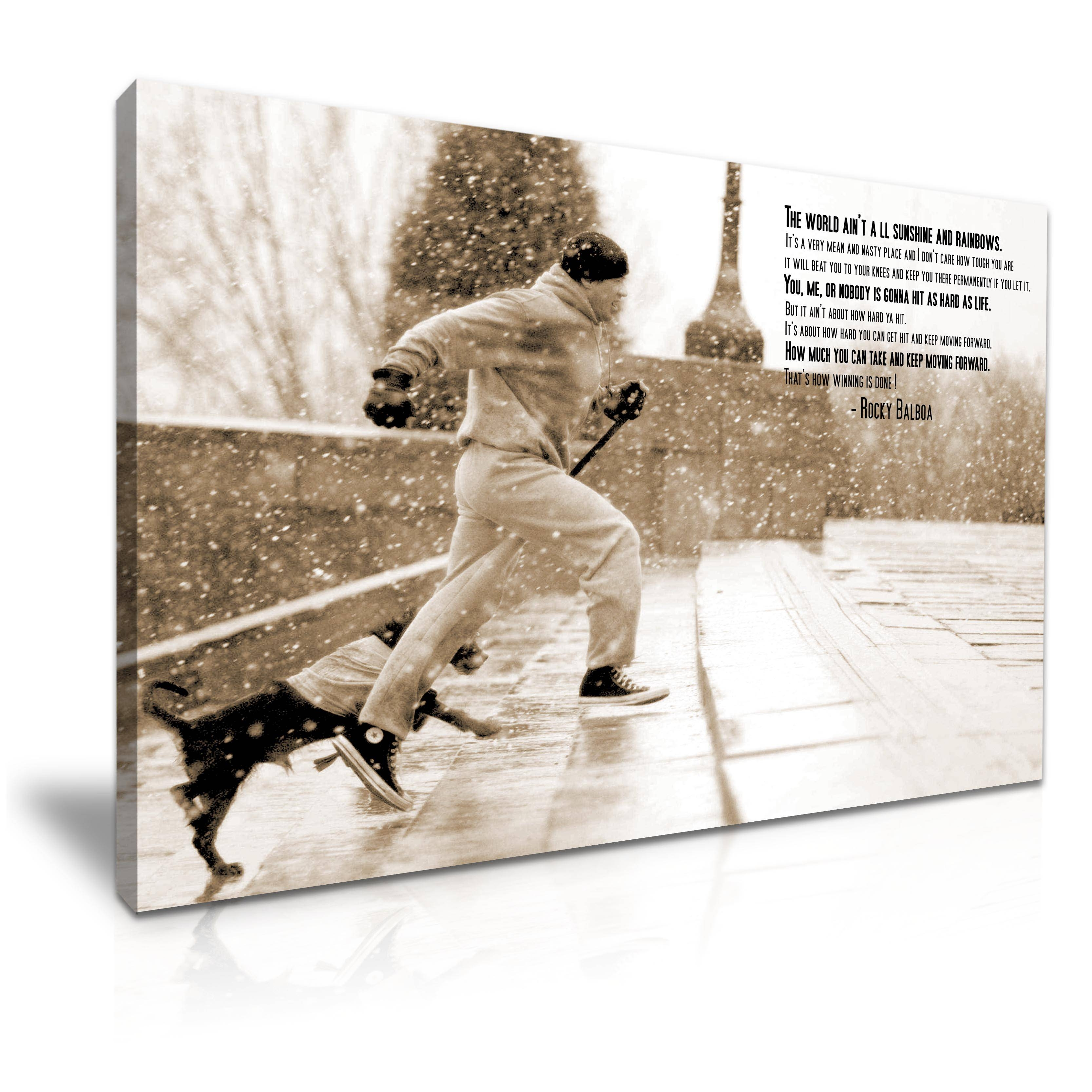 Rocky Balboa Canvas Movie Boxing Modern Wall Art Home Deco 9 Sizes Throughout Recent Rocky Balboa Wall Art (View 3 of 20)