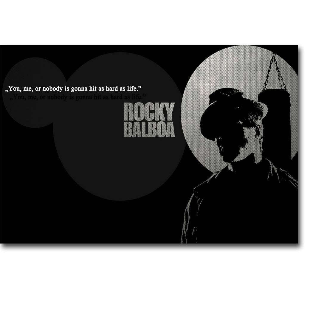 Rocky Balboa Motivational Quote Art Silk Poster Print For Most Recently Released Rocky Balboa Wall Art (View 11 of 20)