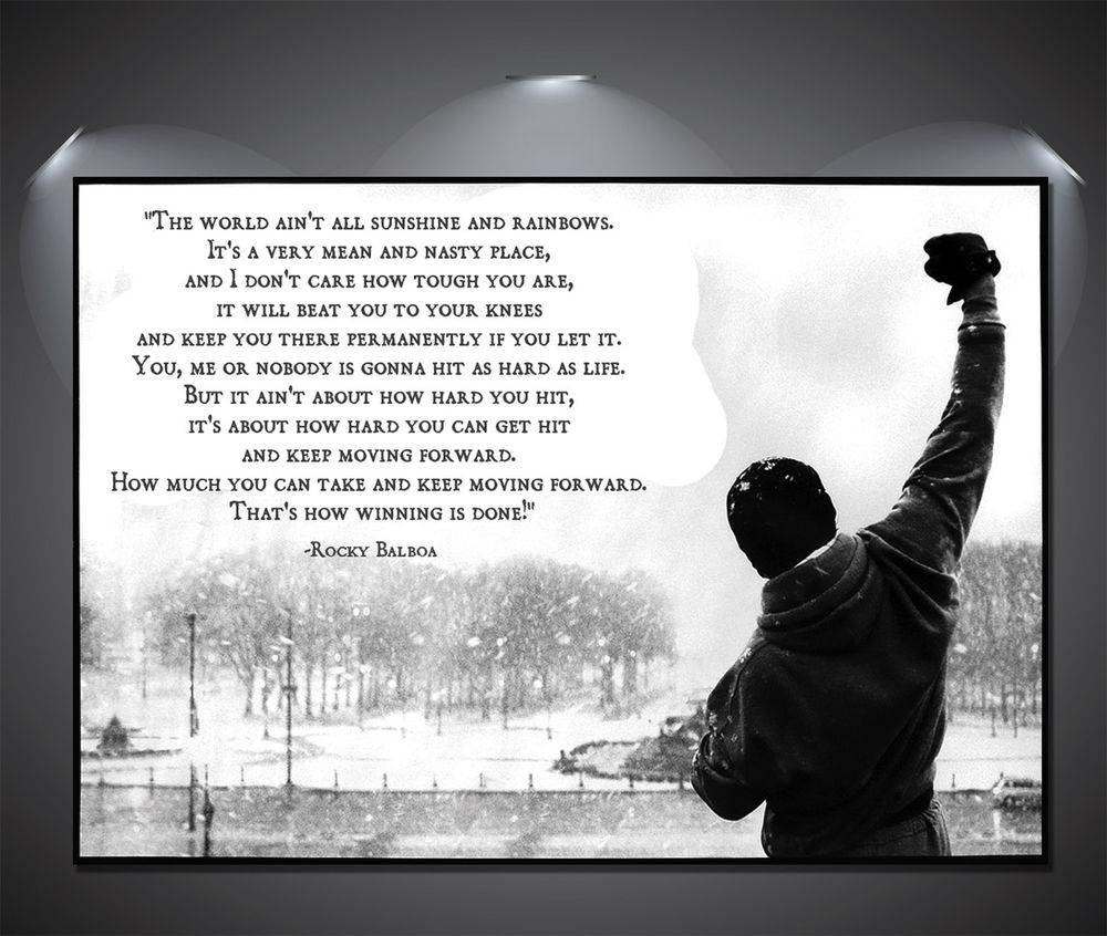 Rocky Balboa Quote Vintage Large Poster – A1, A2, A3, A4 Sizes | Ebay Within Latest Rocky Balboa Wall Art (View 16 of 20)