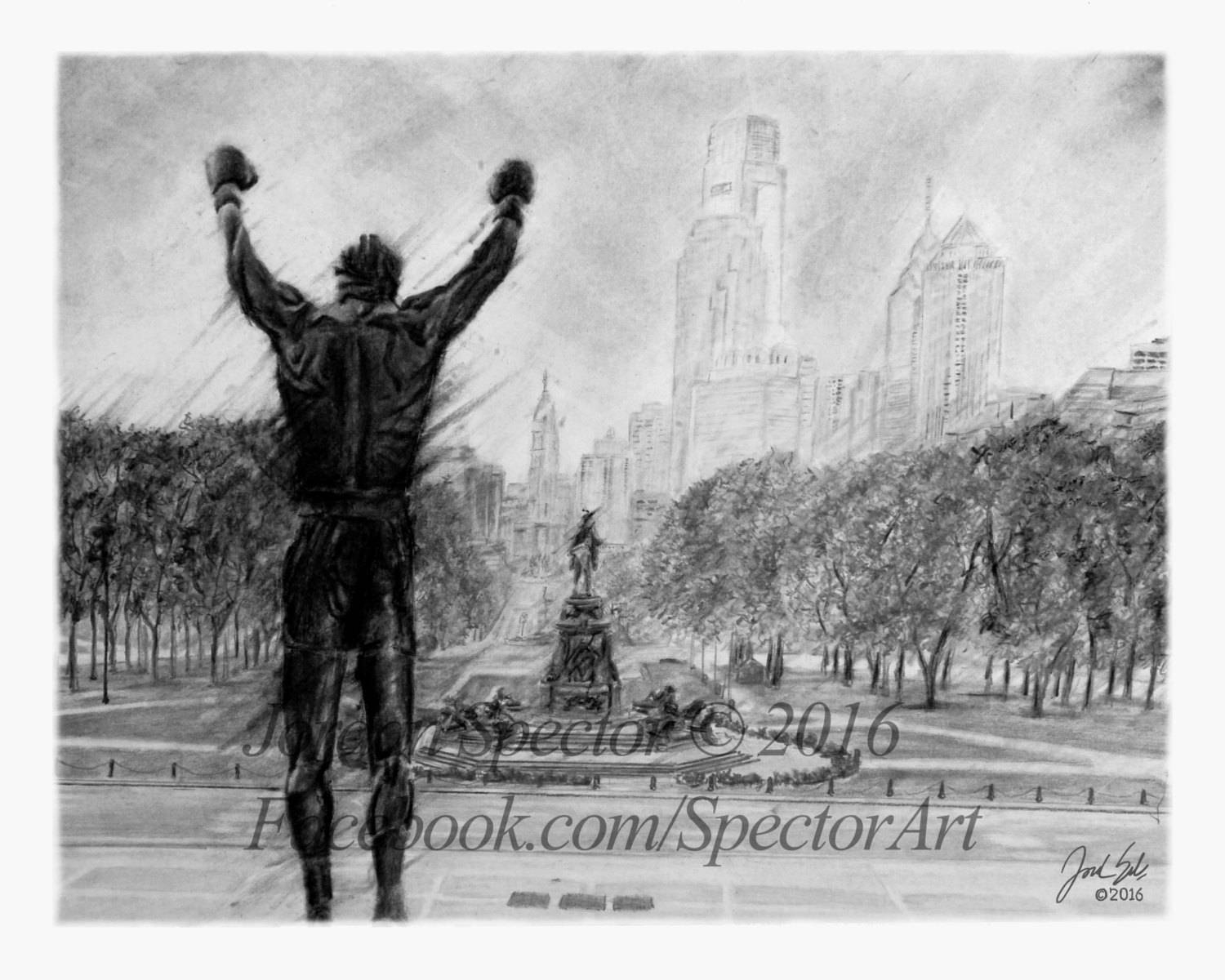 Rocky Balboa Rocky Art Print Black And White Rocky With Regard To Most Recent Rocky Balboa Wall Art (View 17 of 20)