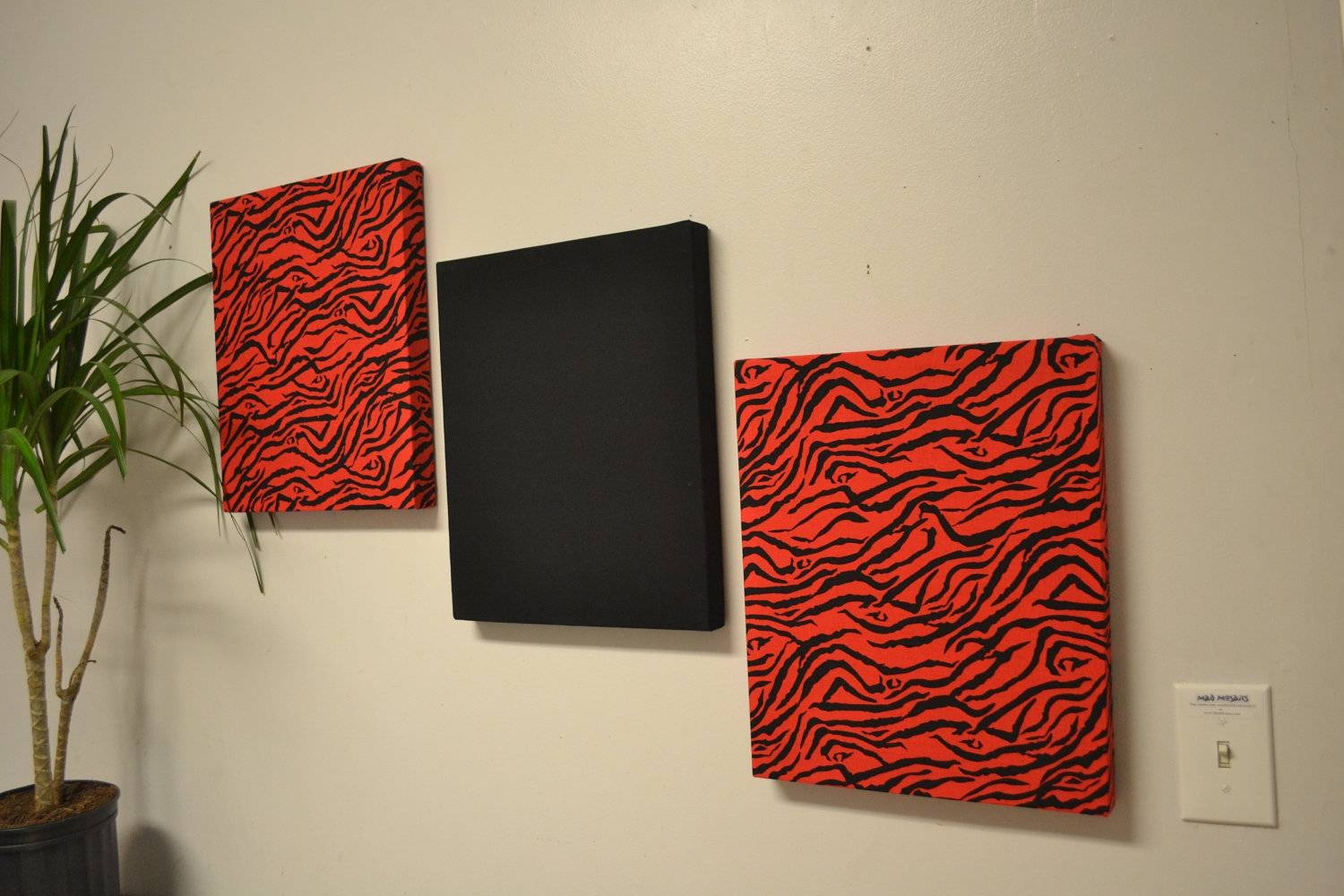 Room Decor : Red Zebra Wall Decor Zebra Wall Decor For Luxurious Within Current Black And White Wall Art With Red (View 21 of 25)