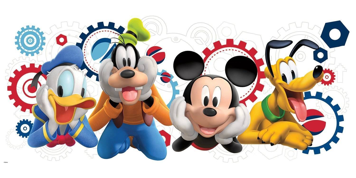 Room Mates Mickey And Friends Mickey Mouse Clubhouse Capers Giant Inside Best And Newest Mickey Mouse Clubhouse Wall Art (View 7 of 20)