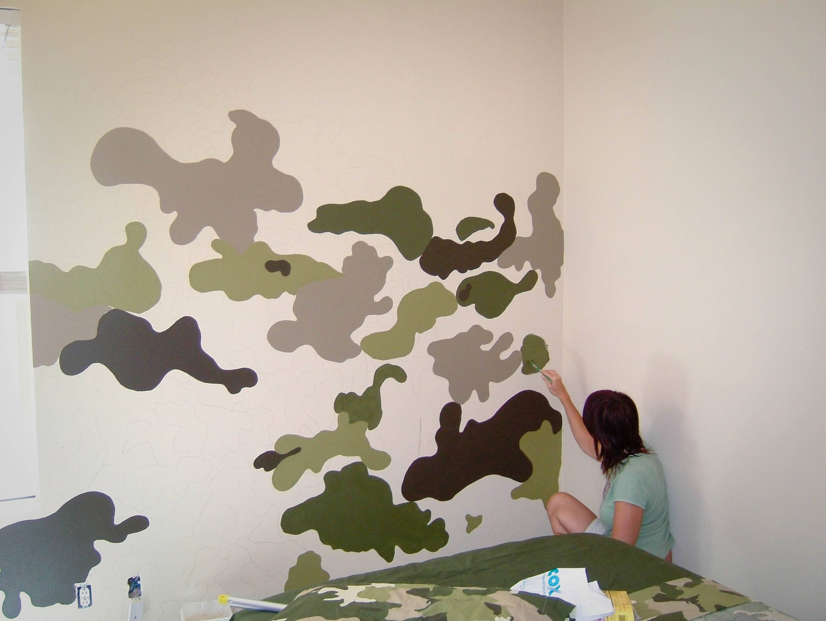 Room Swap Part 1 – The Modchik Intended For 2018 Camouflage Wall Art (Gallery 1 of 20)