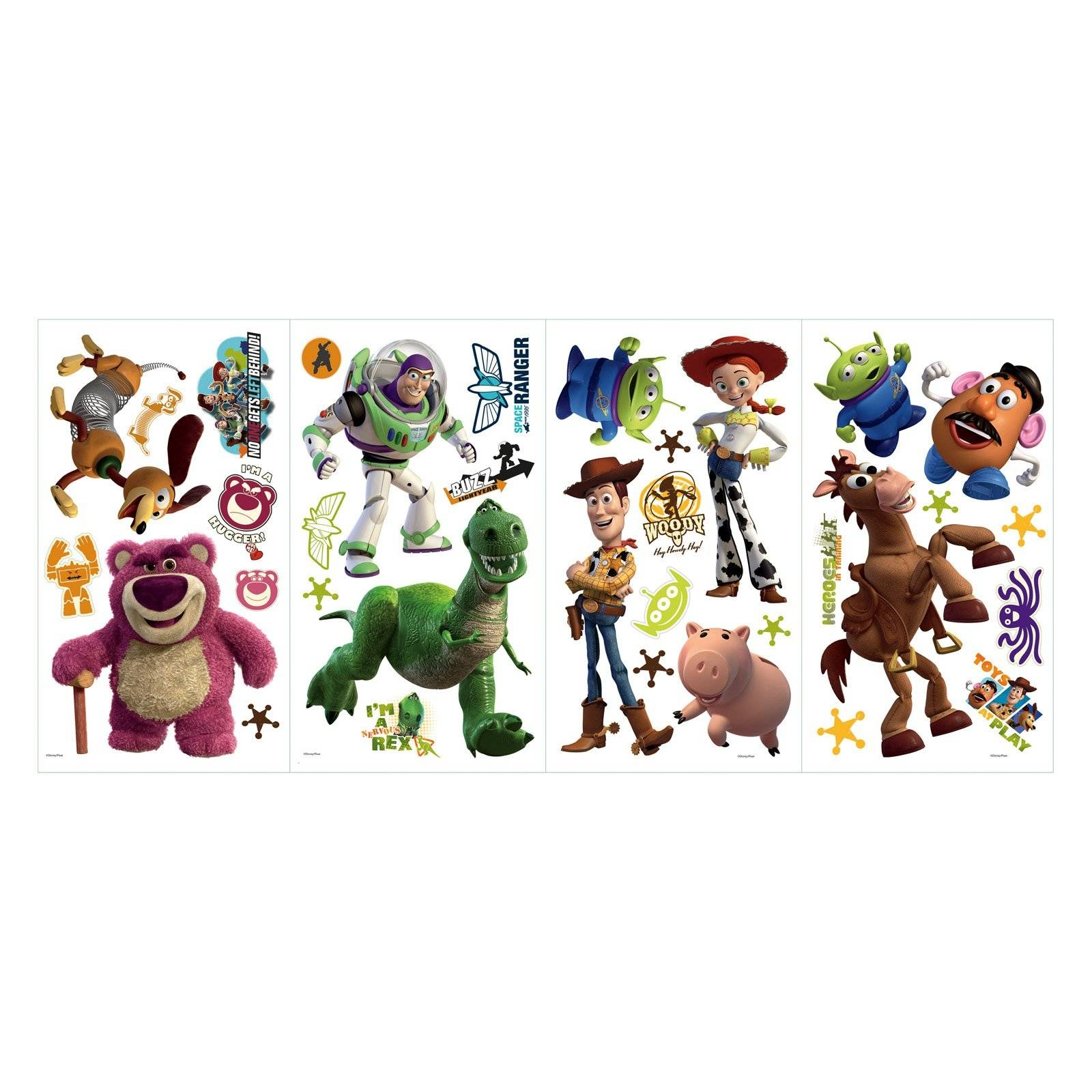 Roommates Disney Pixar Toy Story 3 Peel & Stick Wall Decals – Glow With Regard To Most Up To Date Toy Story Wall Stickers (View 4 of 25)
