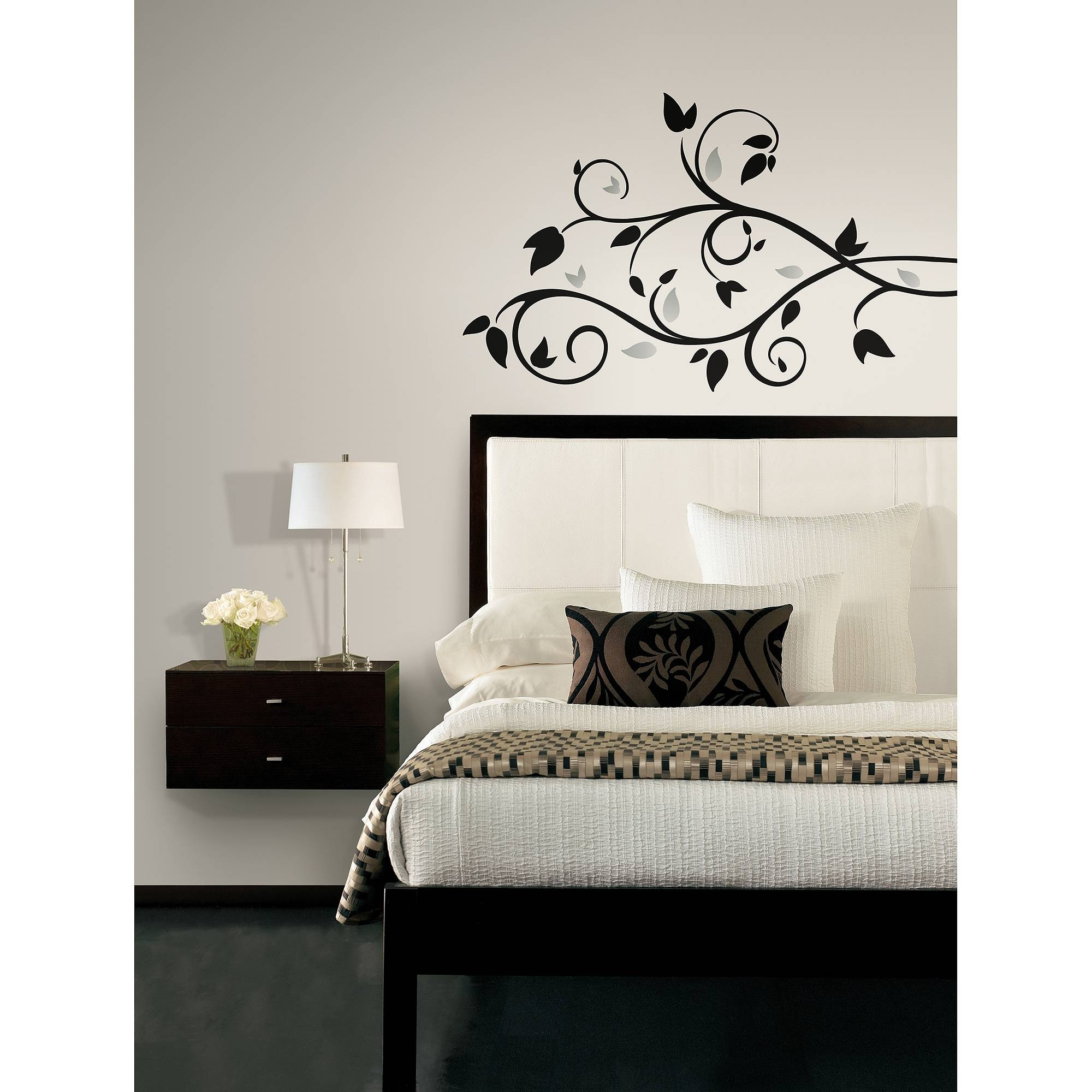 Roommates Foil Tree Branch Peel And Stick Wall Decal – Walmart Throughout Latest Walmart Wall Stickers (Gallery 2 of 25)