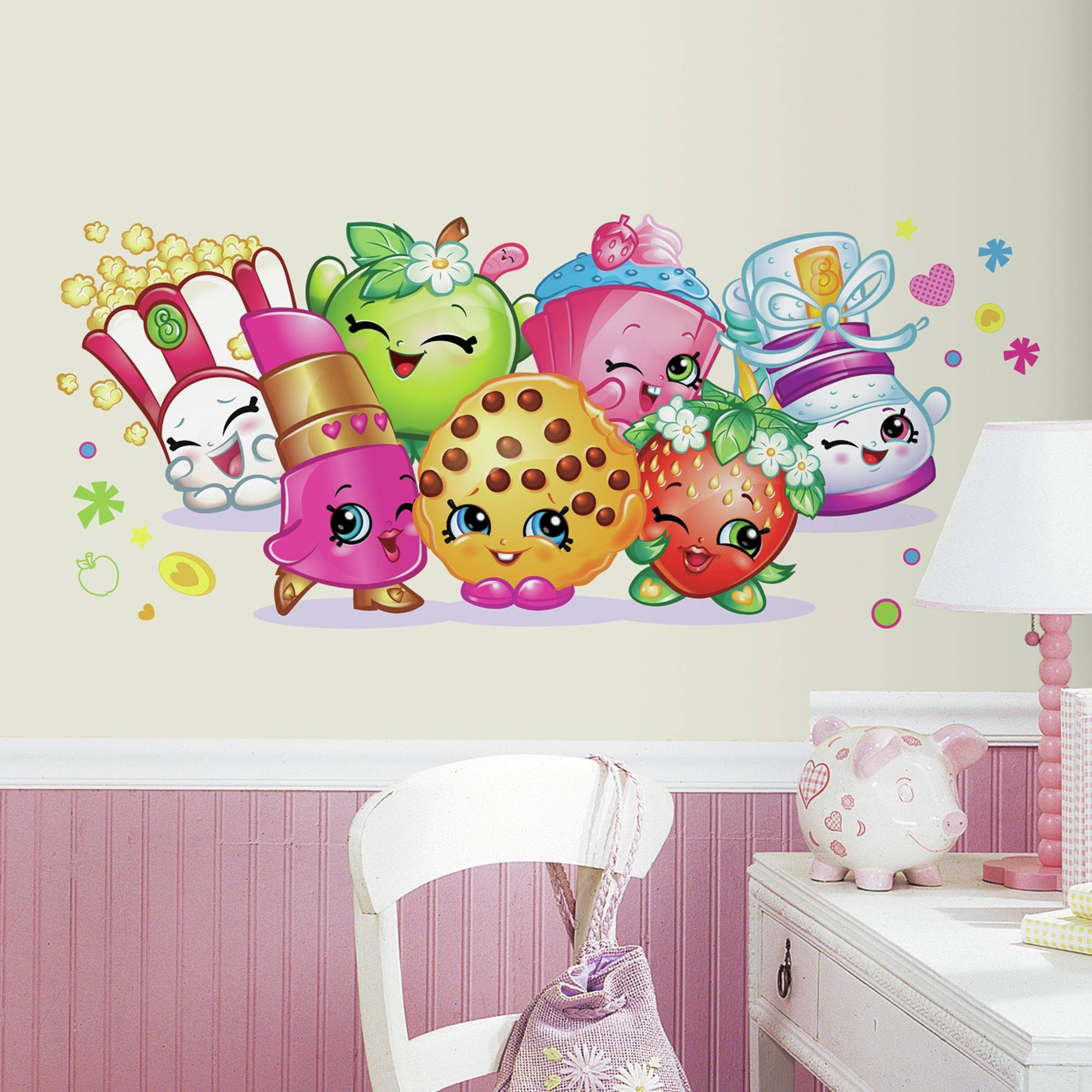 Roommates Shopkins Burst Peel And Stick Giant Wall Decals With Regard To Most Up To Date Walmart Wall Stickers (View 6 of 25)