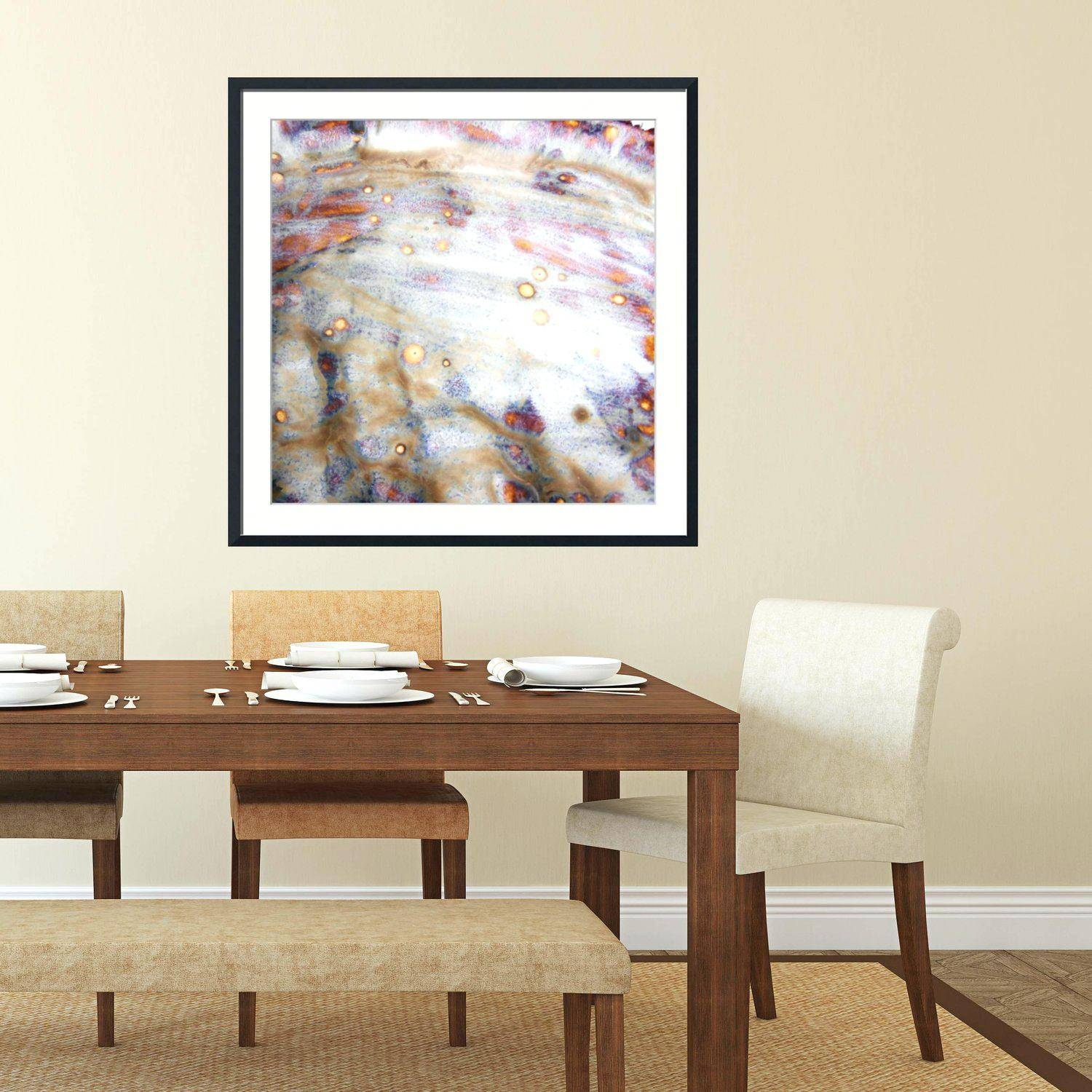Rooms With Oversized Art 10 Dining Rooms With Oversized Art Mid Inside Most Current Oversized Framed Wall Art (View 18 of 20)