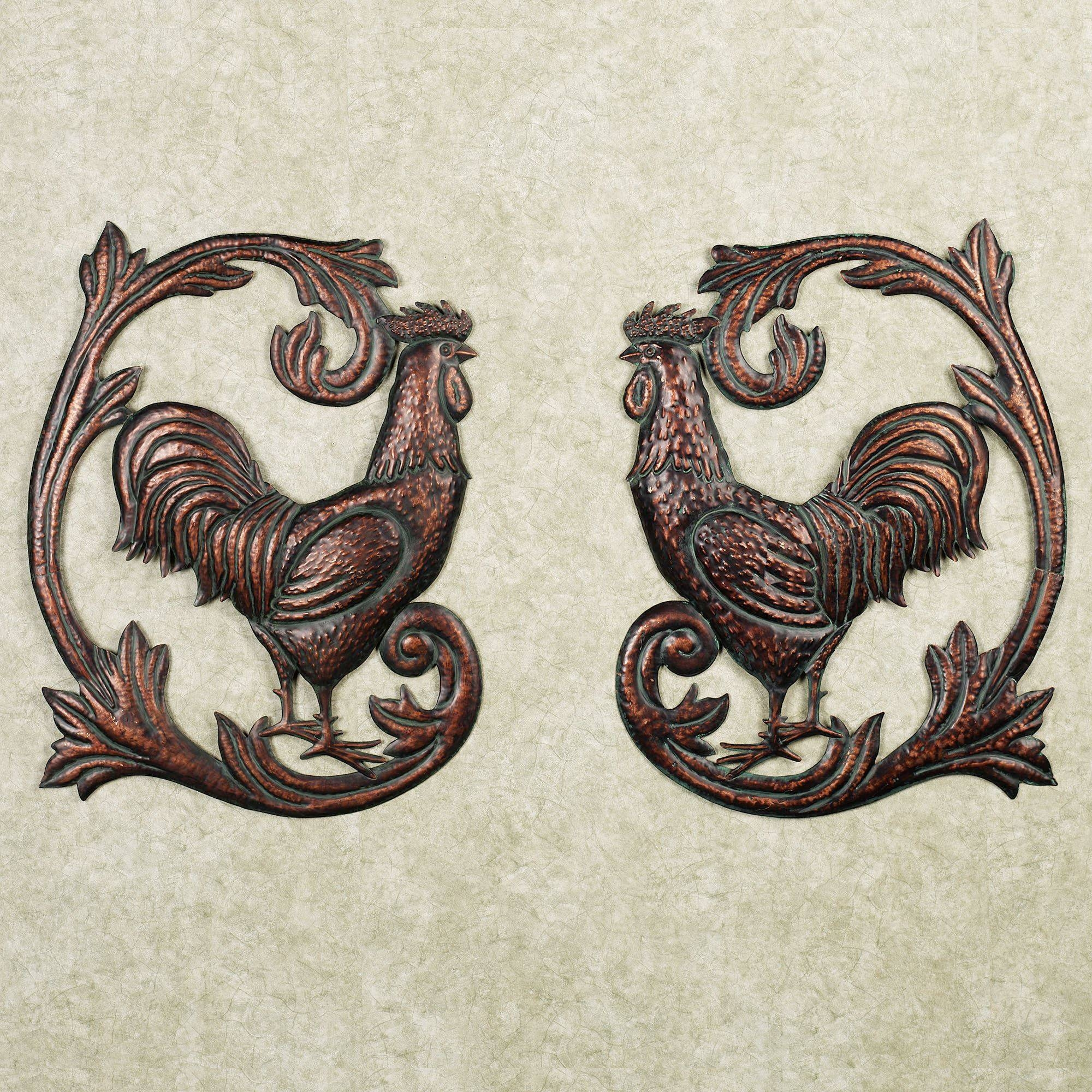 Rooster Wall Art – Popular Items For Rooster Wall Art On Etsy With With Regard To Most Current Metal Rooster Wall Decor (View 6 of 25)