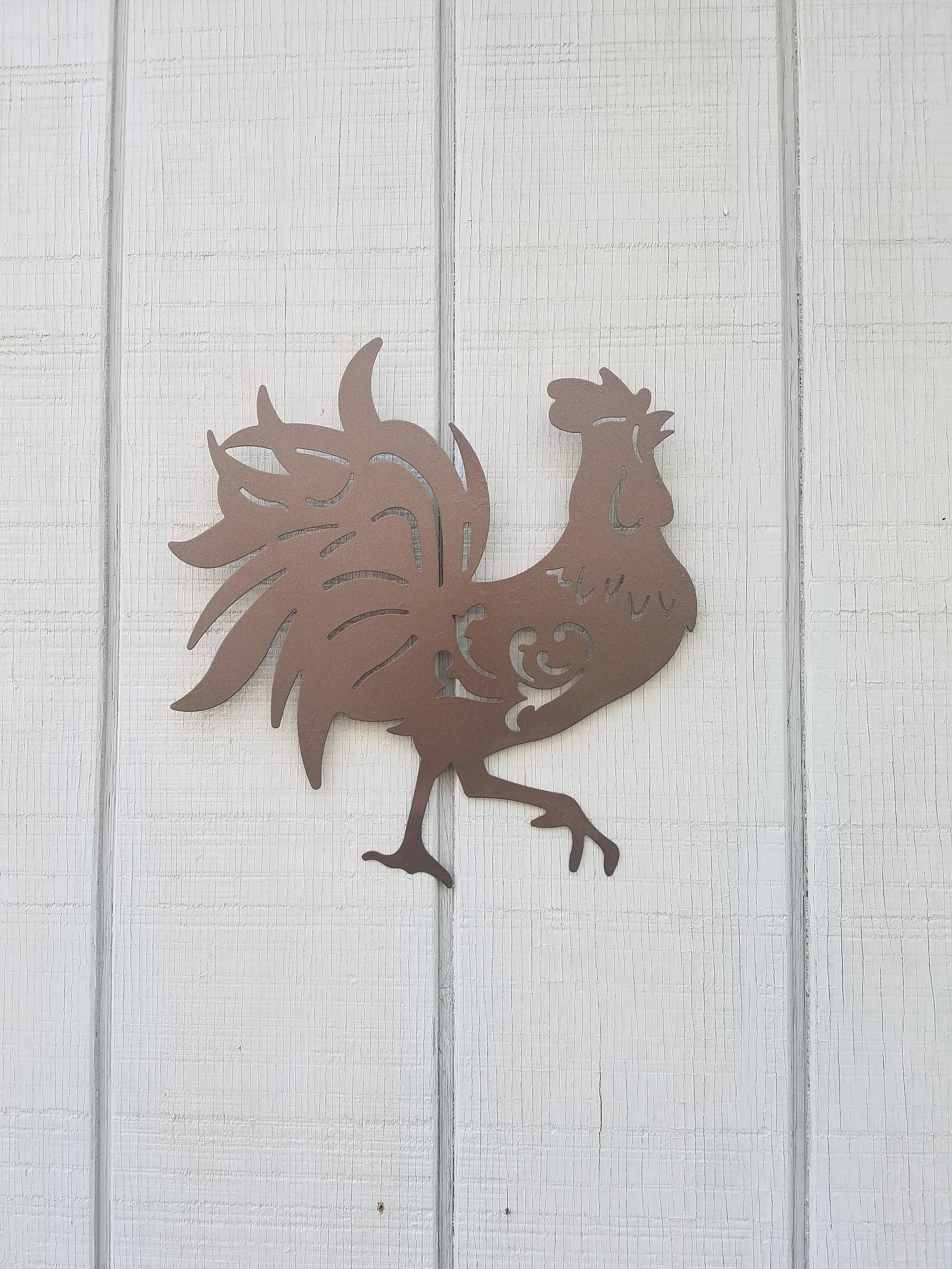 Rooster Wall Art / Rooster Decor / Kitchen Decor / Chicken In Most Recently Released Metal Rooster Wall Decor (Gallery 23 of 25)