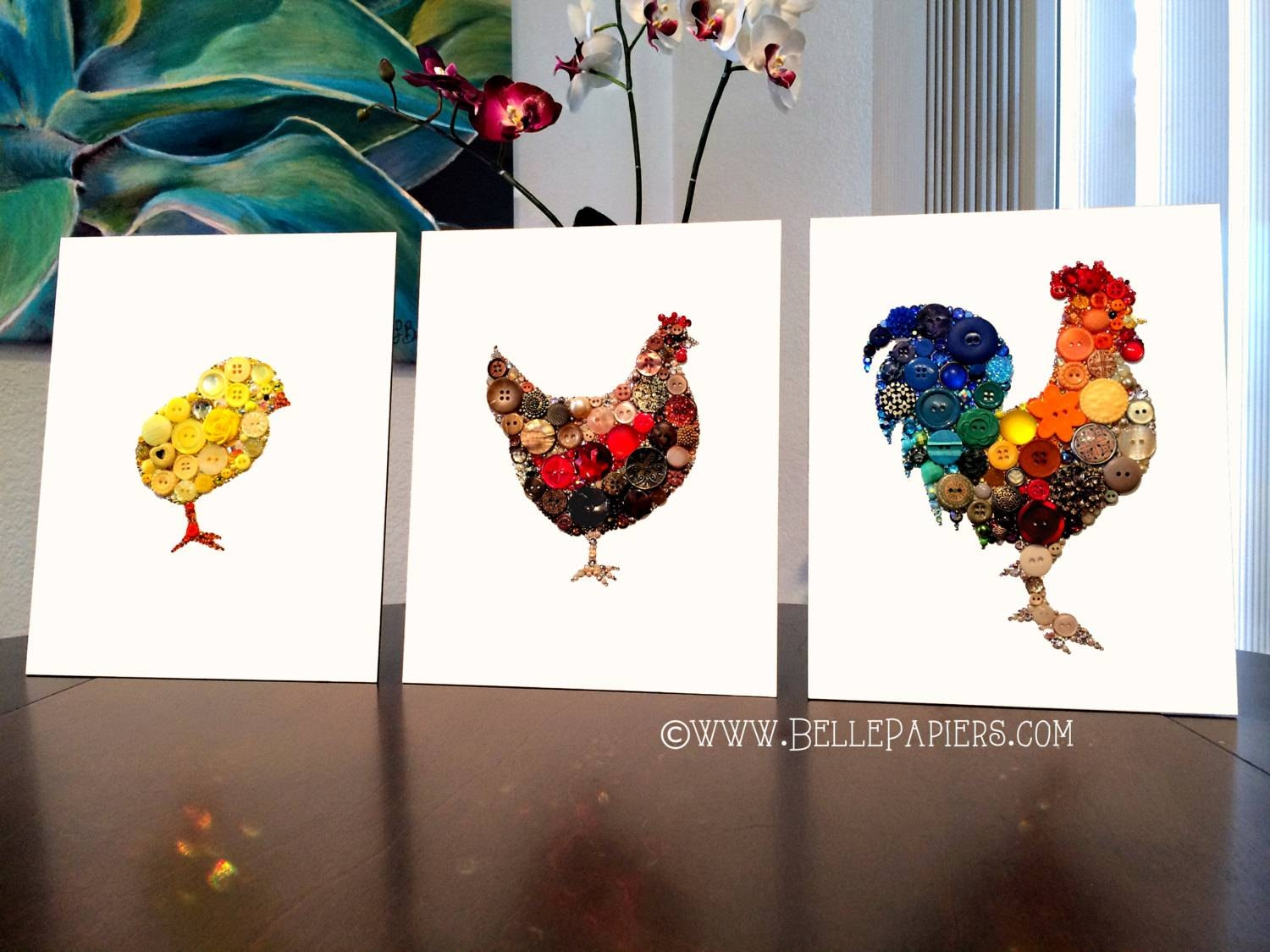 Rooster Wall Hanging Kitchen Decoration Rooster Wall Art For Most Current Cucina Wall Art (View 12 of 30)