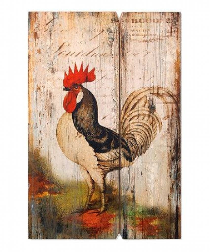 Rooster Wood Wall Art | Wood Wall Art, Roosters And Wood Walls Pertaining To Best And Newest Metal Rooster Wall Decor (Gallery 2 of 25)