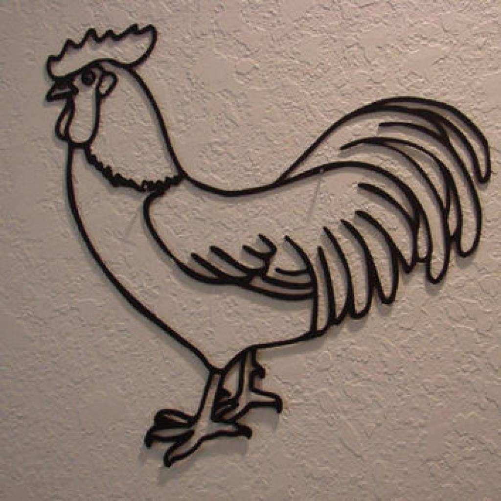 Rooster Wood Wall Art | Wood Wall Art, Roosters And Wood Walls Regarding Latest Metal Rooster Wall Decor (View 16 of 25)