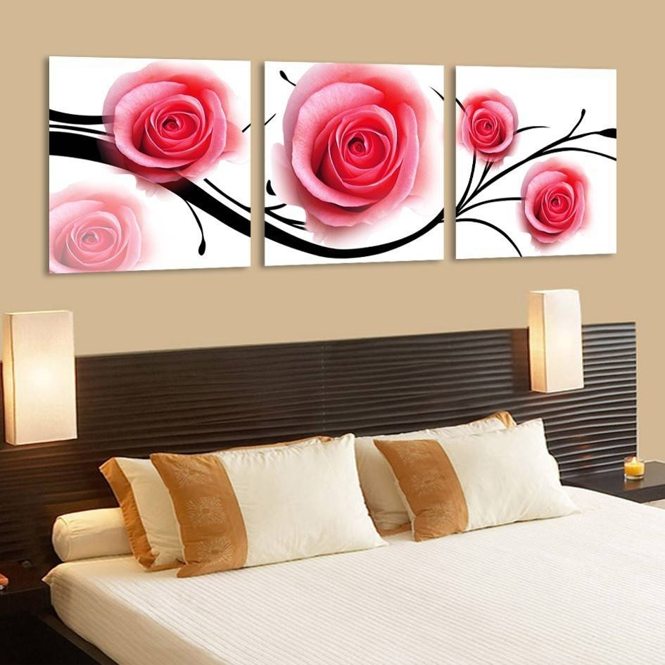 Rose Wall Art Decor – Rose Wall Sculpture: Elegant Rose Canvas Inside Most Current Rose Canvas Wall Art (View 11 of 20)