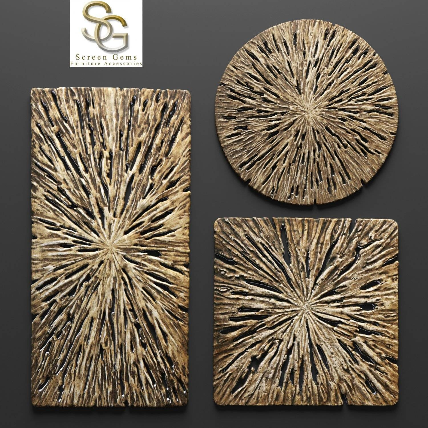 Rotten Wood Wall Art – Set 3D Model In Decoration 3Dexport Intended For Most Recently Released Wood 3D Wall Art (View 8 of 20)