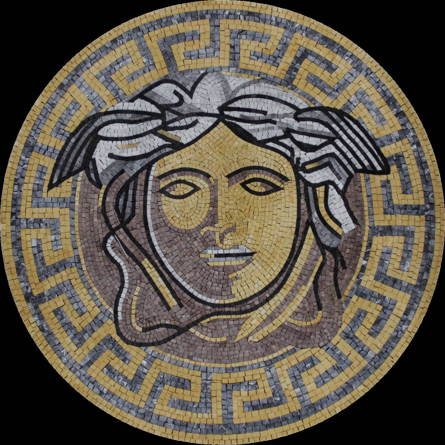 Round Medallion Versace Greek Wall Floor Home Decor Marble Inside Latest Greek Wall Art (View 16 of 20)