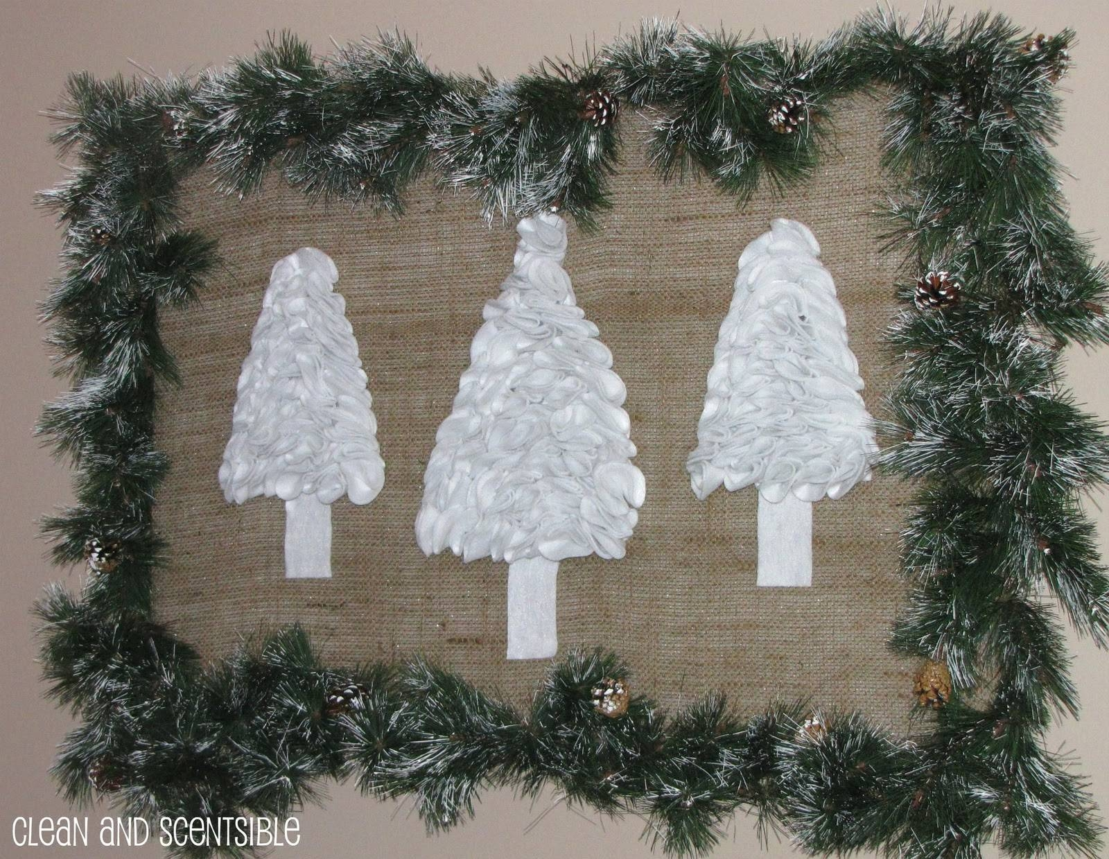 Ruffled Holiday Tree Wall Art Featuring Jenn From Clean Within Most Recent Pine Tree Wall Art (View 27 of 30)