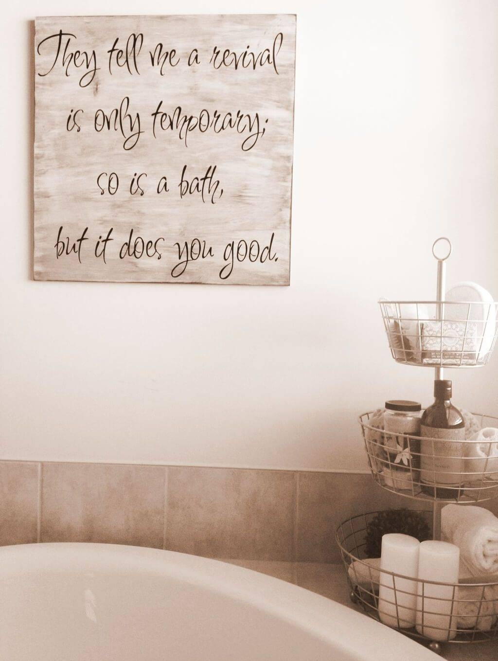 Rustic Bathroom Wall Art Ideas Decor Yellow Inspirations 2017 In Current Bath Wall Art (View 13 of 16)