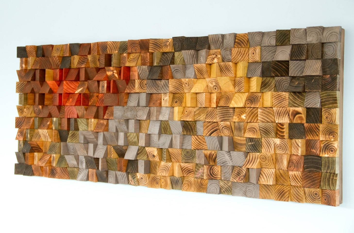 Rustic Wood Wall Art, Wood Wall Sculpture, Abstract Wood Art – Art Within 2018 Abstract Wall Art 3D (View 16 of 20)
