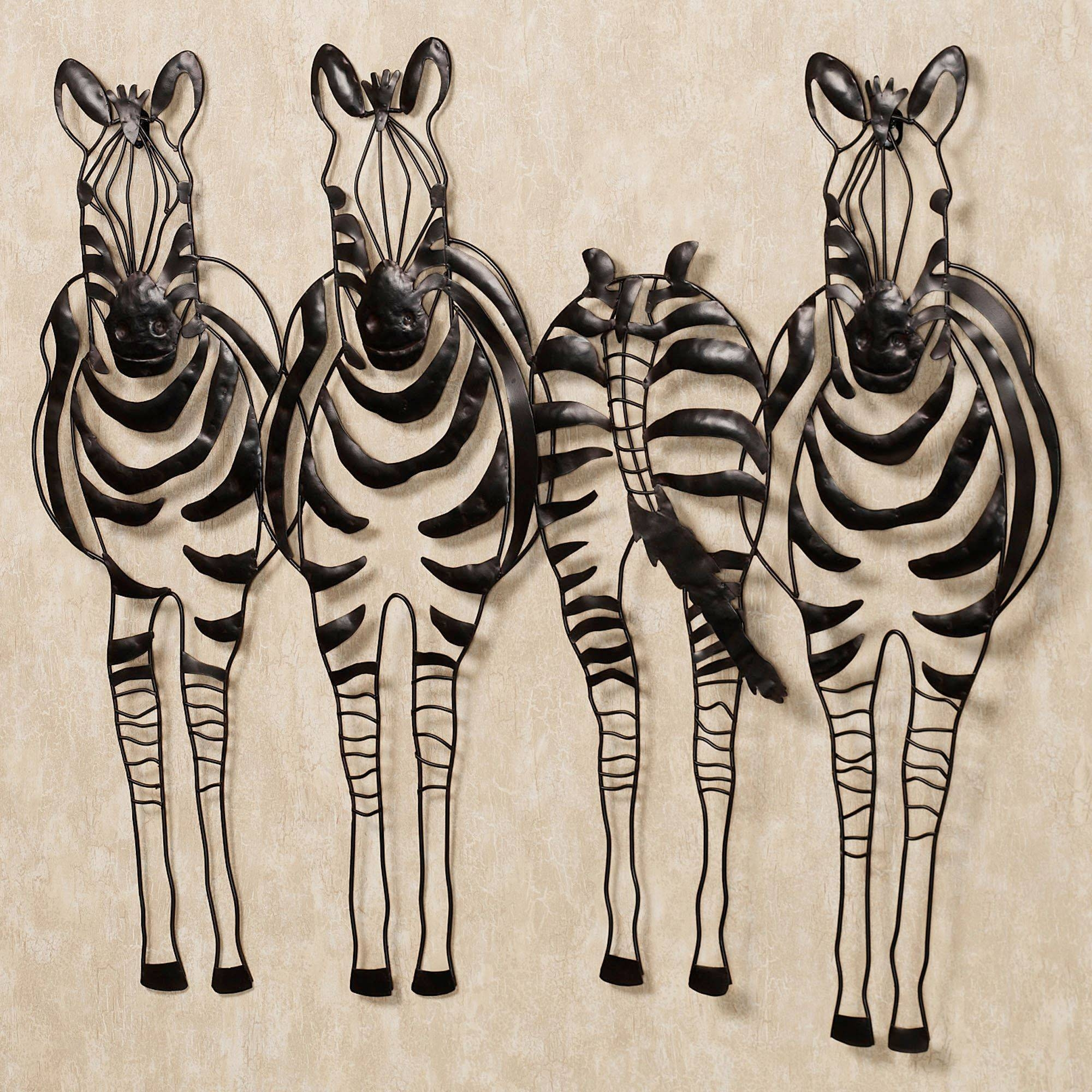 Safari Zebra Home Accents | Touch Of Class Within Most Recently Released Zebra 3d Wall Art (View 4 of 20)