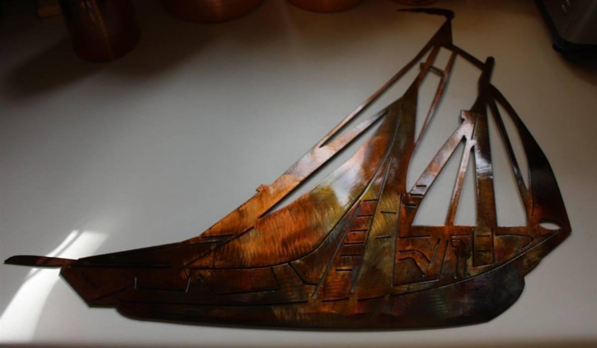 Sailboat, Sailing Metal Wall Art Pertaining To Current Sailboat Metal Wall Art (View 22 of 30)