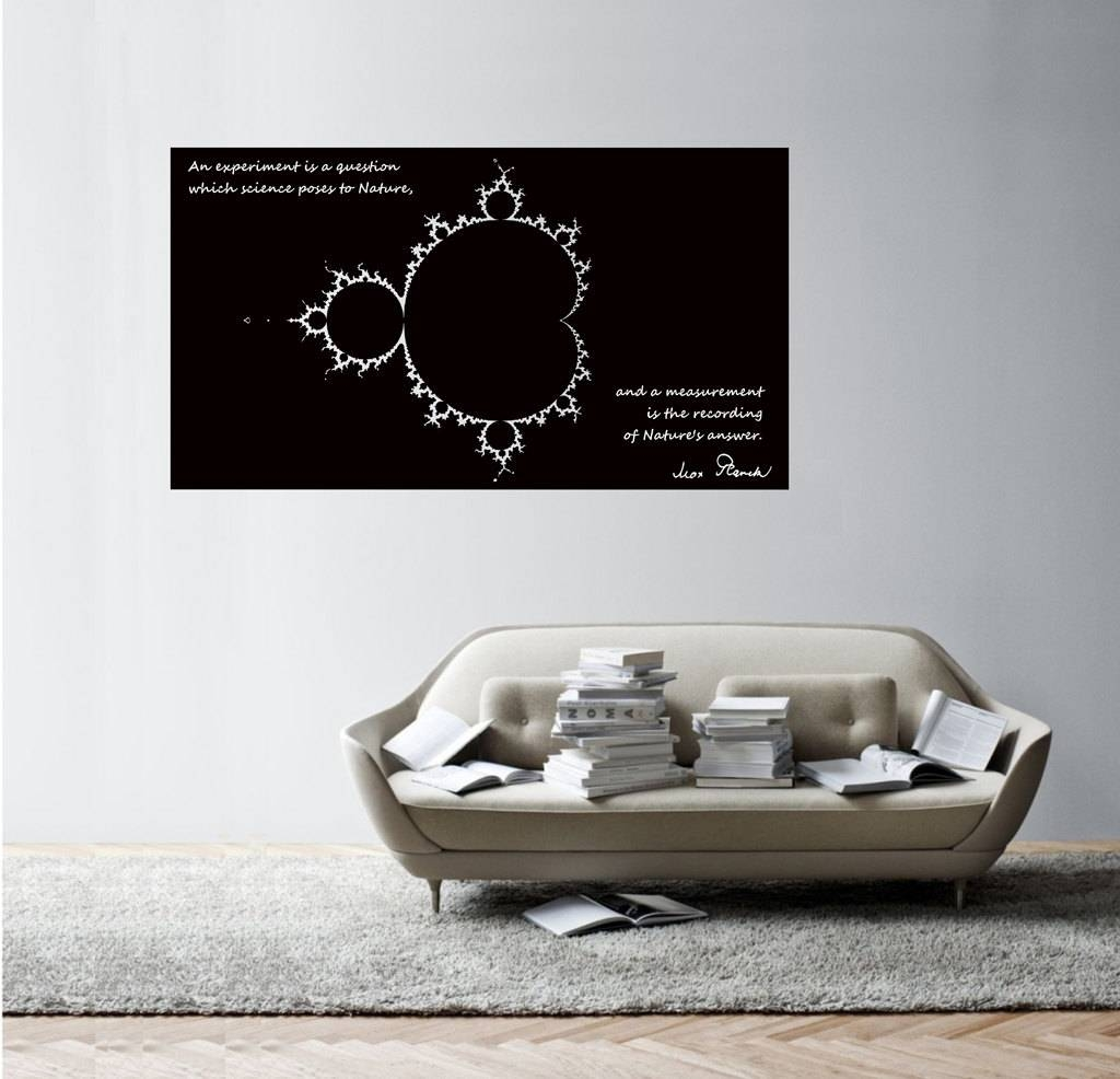 Science Art Physics Max Plank's Inspiring Quote With Pertaining To Most Current Classroom Vinyl Wall Art (View 17 of 30)