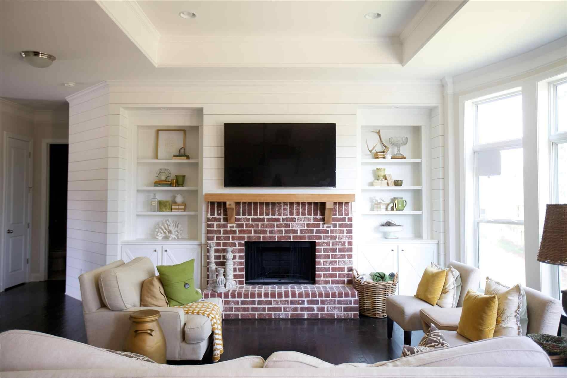 Scraped Shiplap Fireplace With Living Carameloffers Shiplap Modern For Most Recently Released Fireplace Wall Art (View 10 of 20)