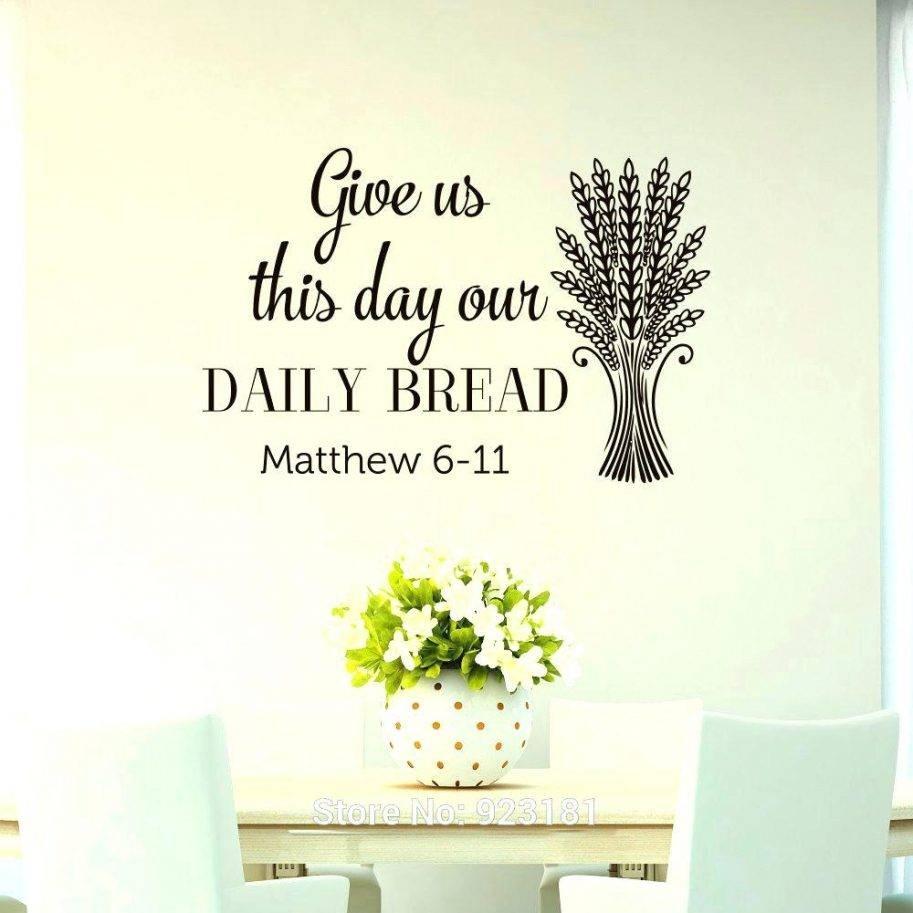 Scripture Wall Art Bible Verse Wood Vinyl Decorative Stickers Regarding Latest Scripture Canvas Wall Art (View 18 of 20)
